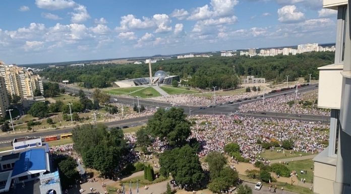Rally against the election results in Belarus was removed from the copter: look at this sea of people
