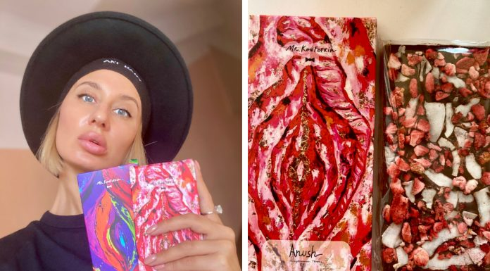 Siberian released the chocolate with the image of Wagin and sells it to women for 500 rubles per tile